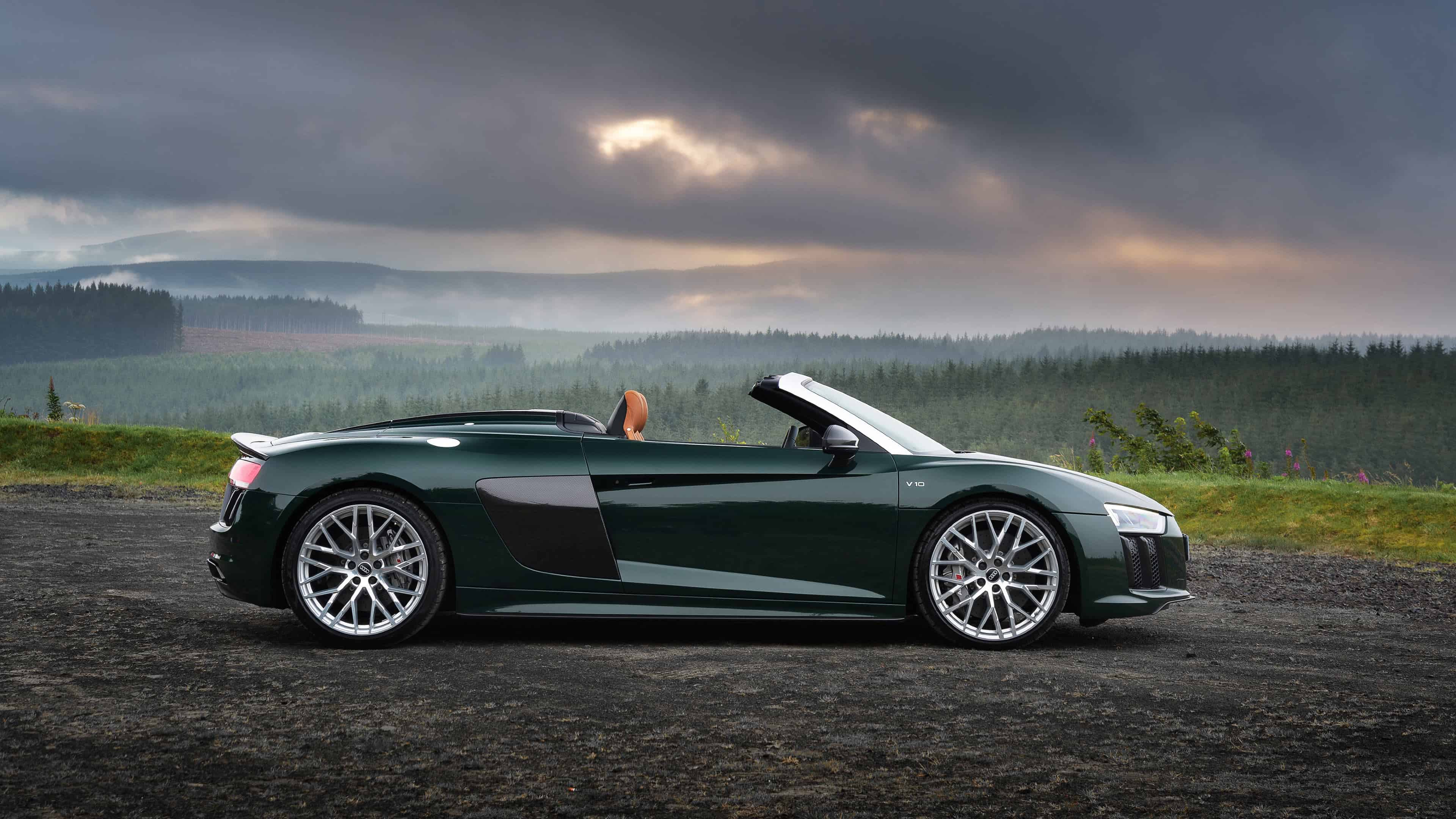 audi r8 spyder v10 plus uhd 4k wallpaper