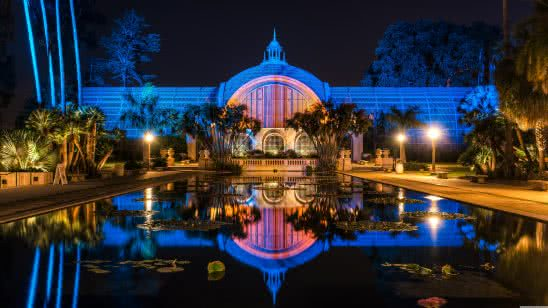 botanical building and lili pond balboa park san diego uhd 8k wallpaper