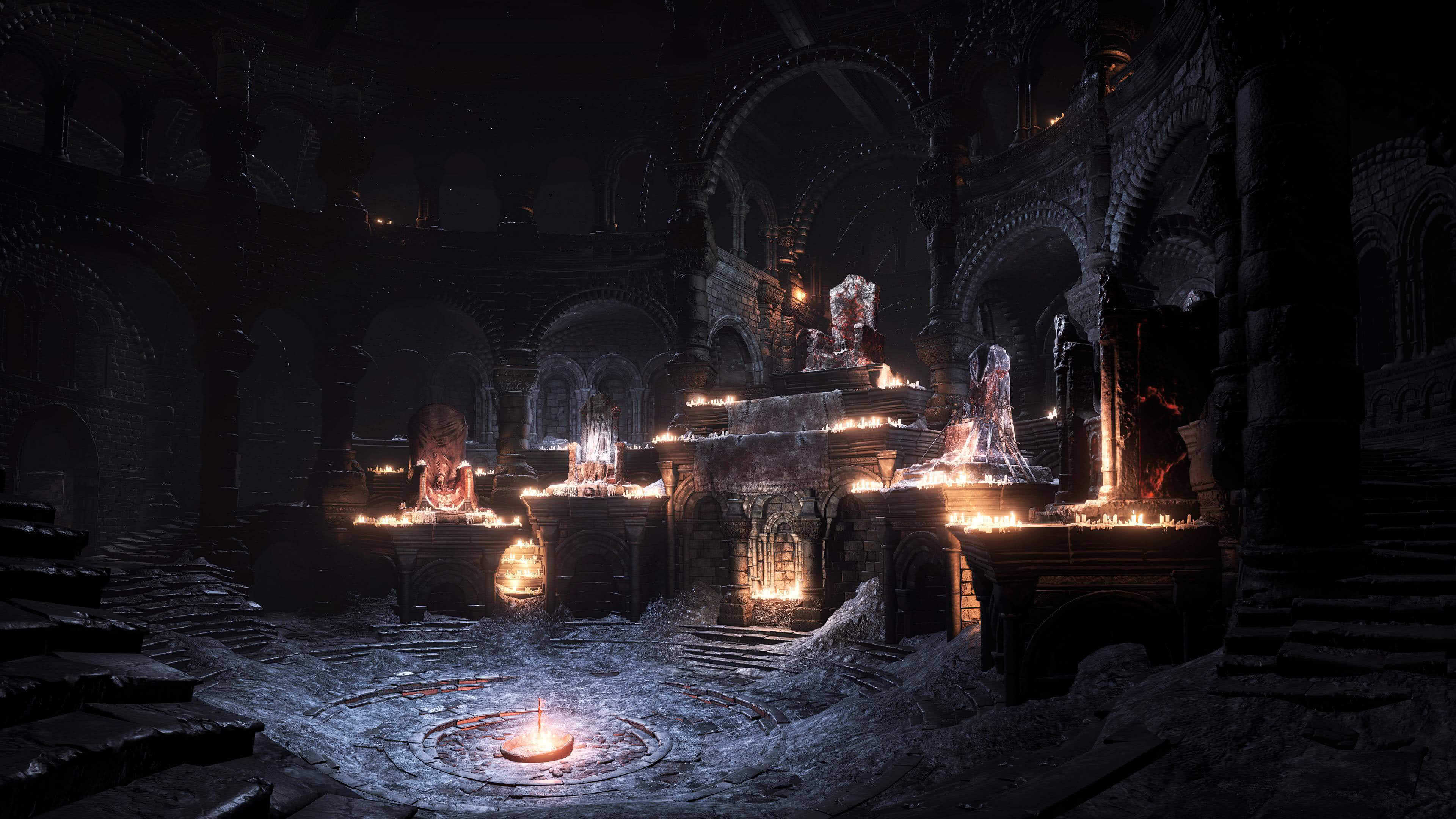 Dark Souls 3 Firelink Shrine Uhd 4k Wallpaper Pixelz Cc