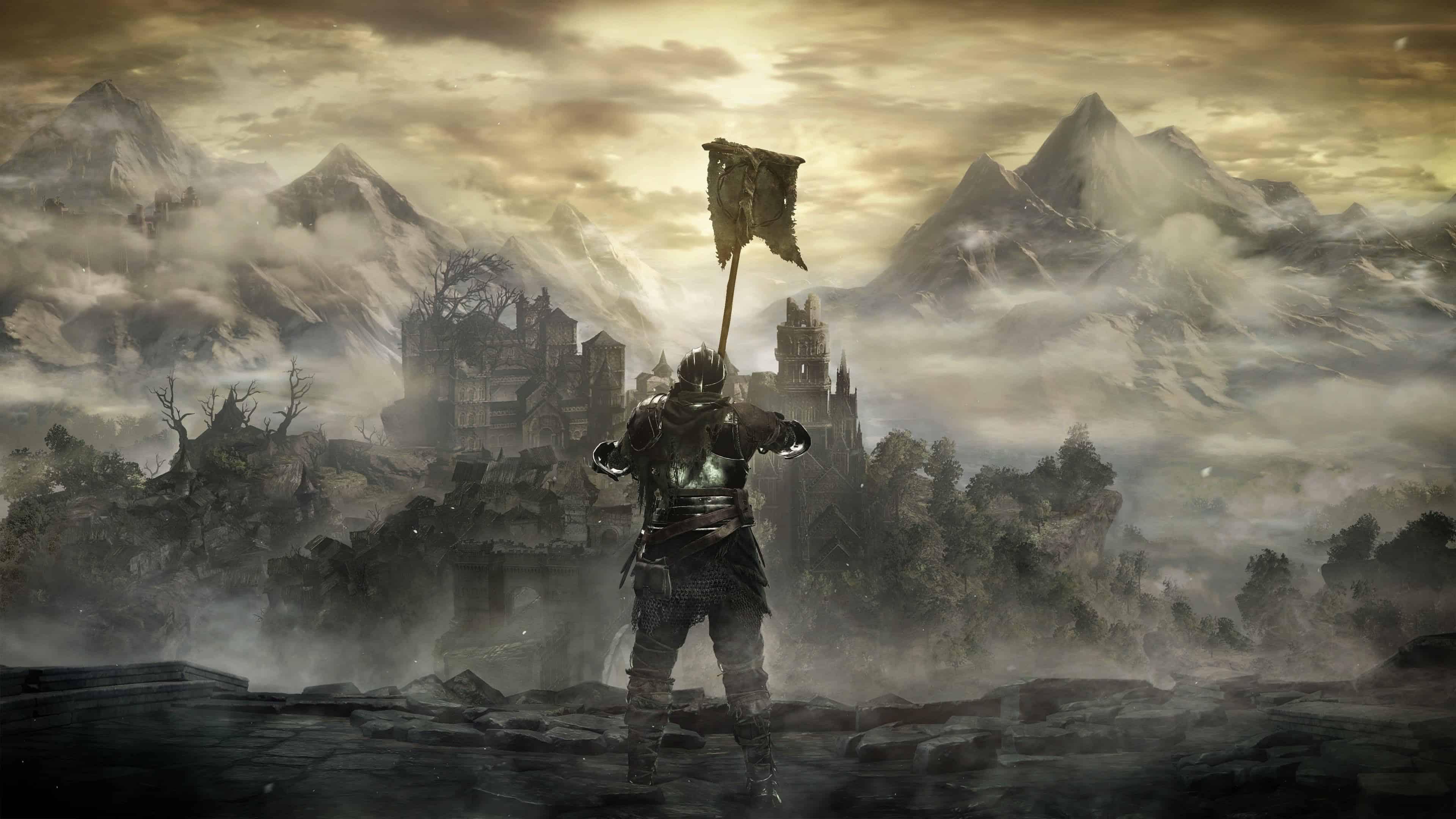 dark souls 3 hoisting the lothric war banner uhd 4k wallpaper