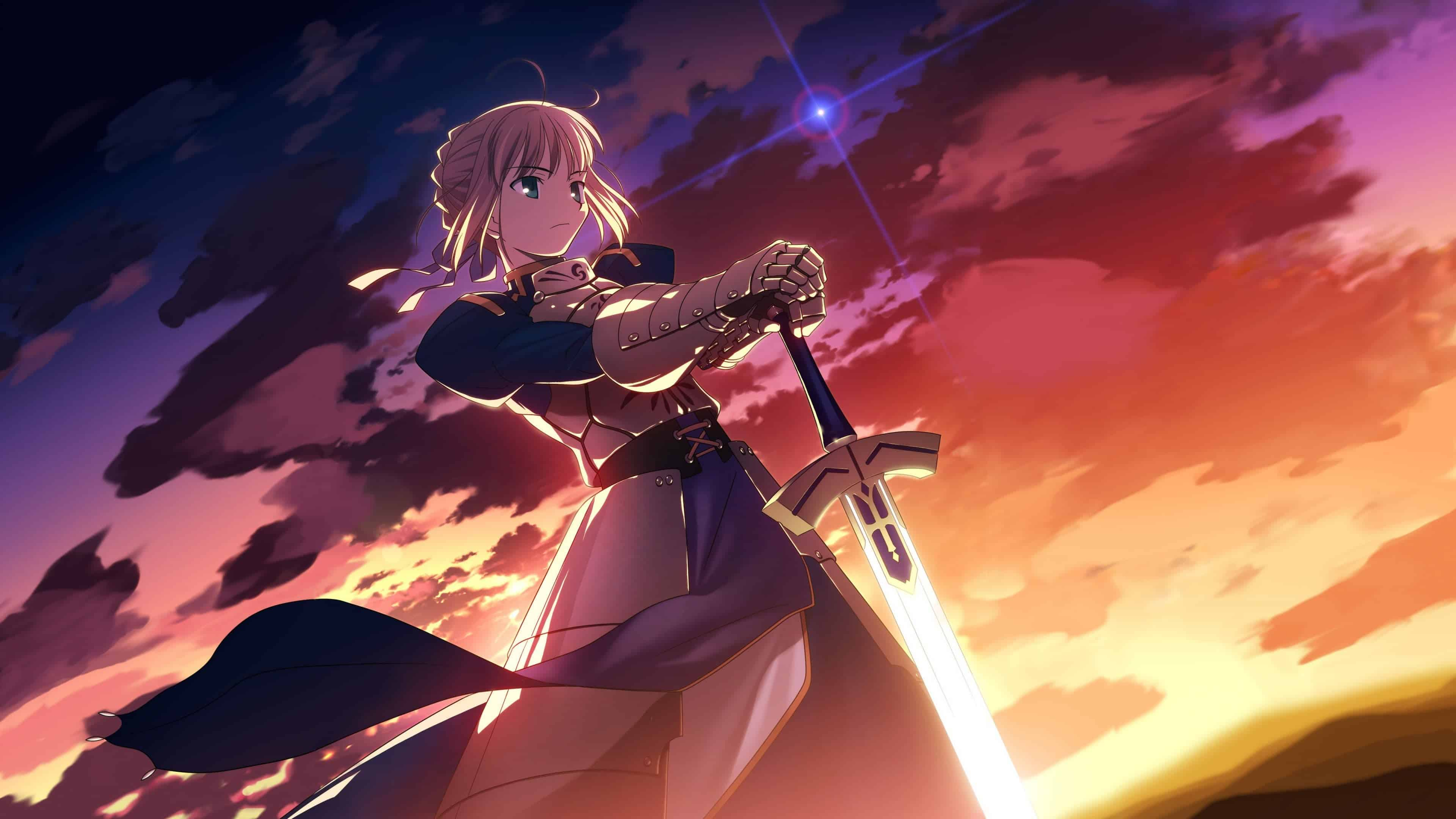 fate stay night saber uhd 4k wallpaper