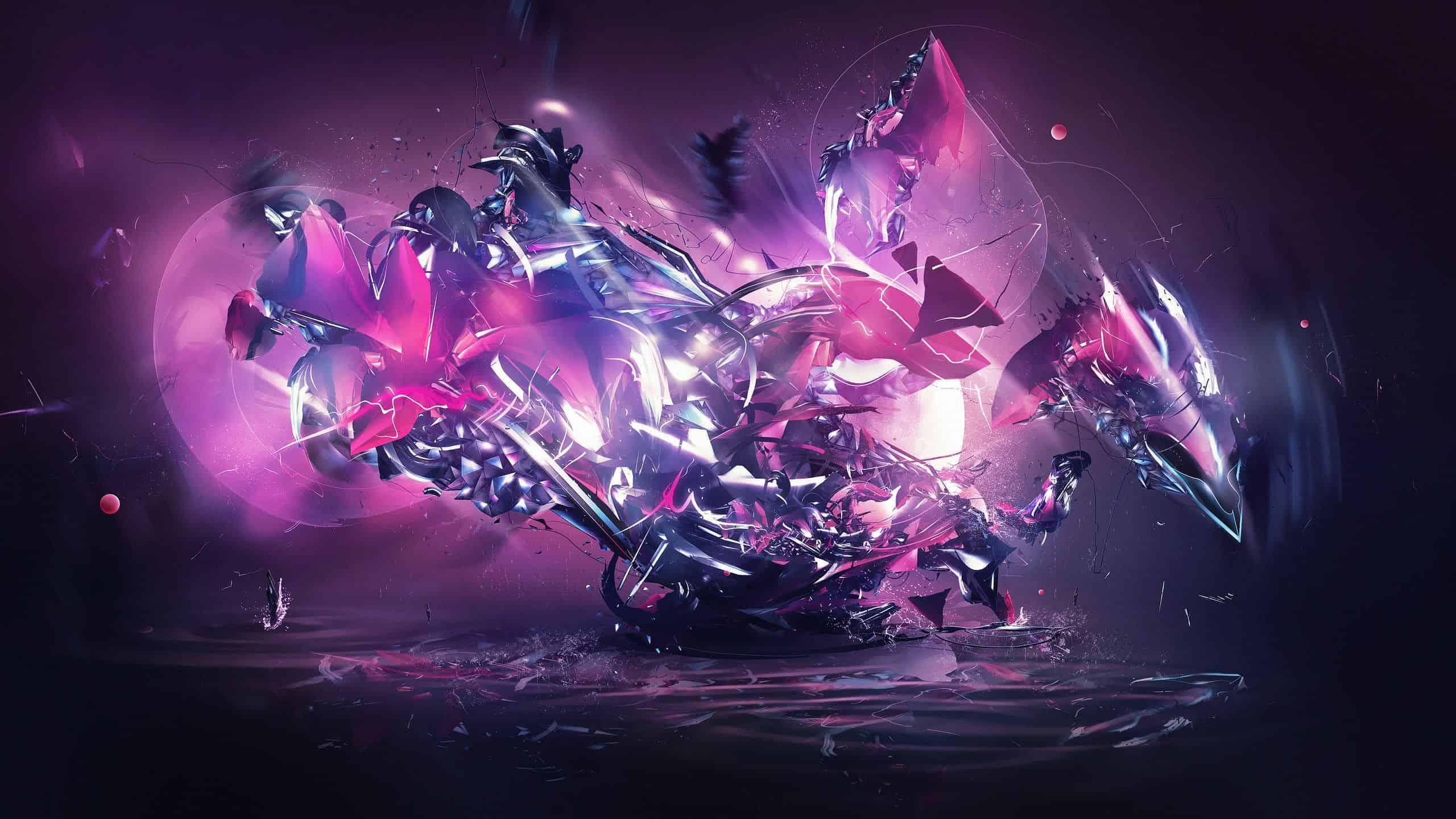futuristic abstract purple 1440p wallpaper