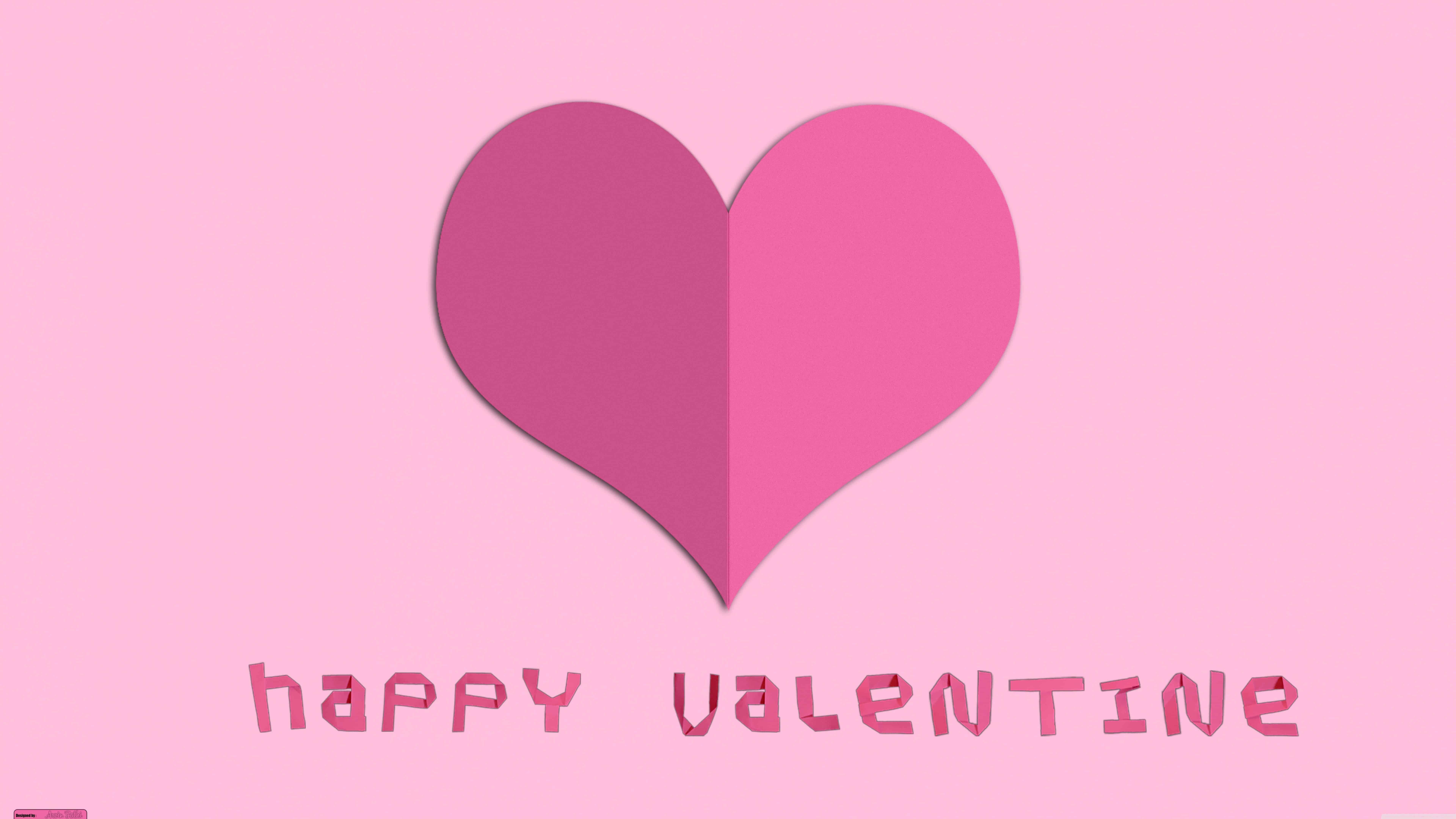 happy valentine paper heart uhd 8k wallpaper