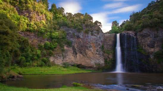 hunua falls new zealand wqhd 1440p wallpaper