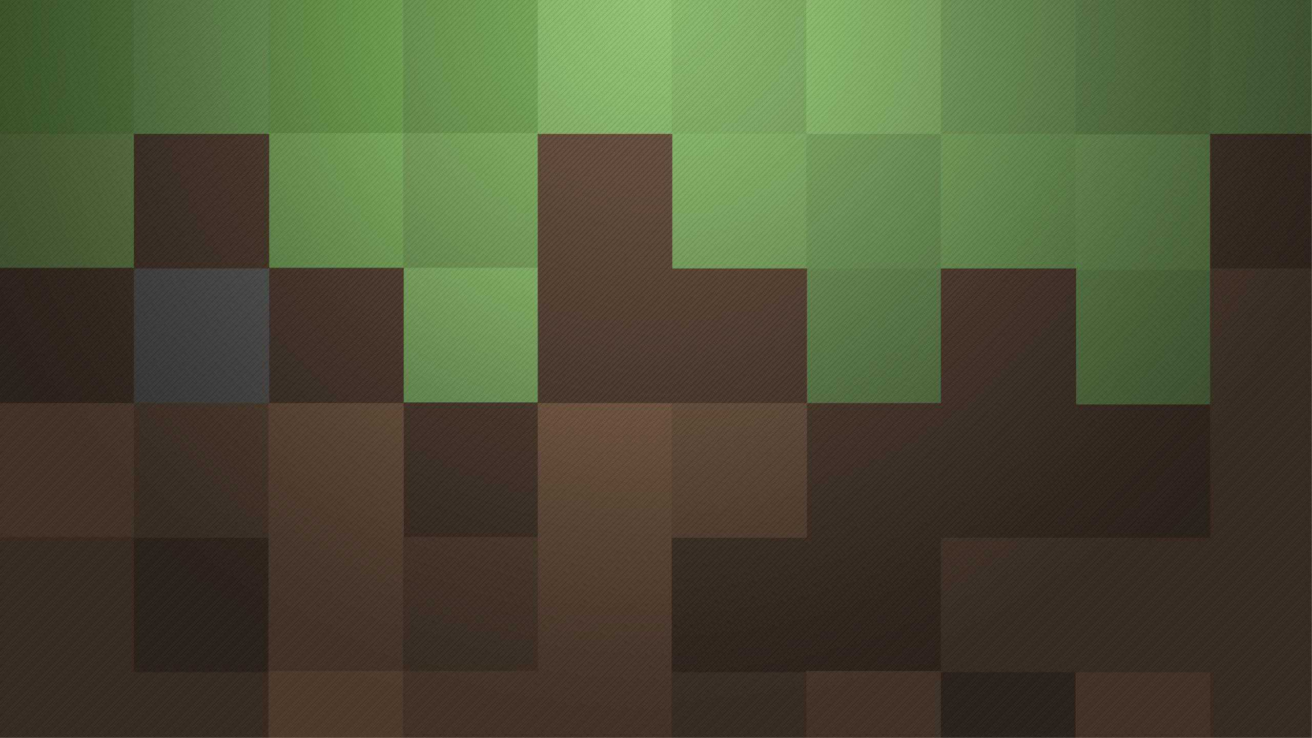 minecraft blocks wqhd 1440p wallpaper