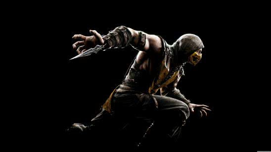mortal kombat x scorpion uhd 8k wallpaper