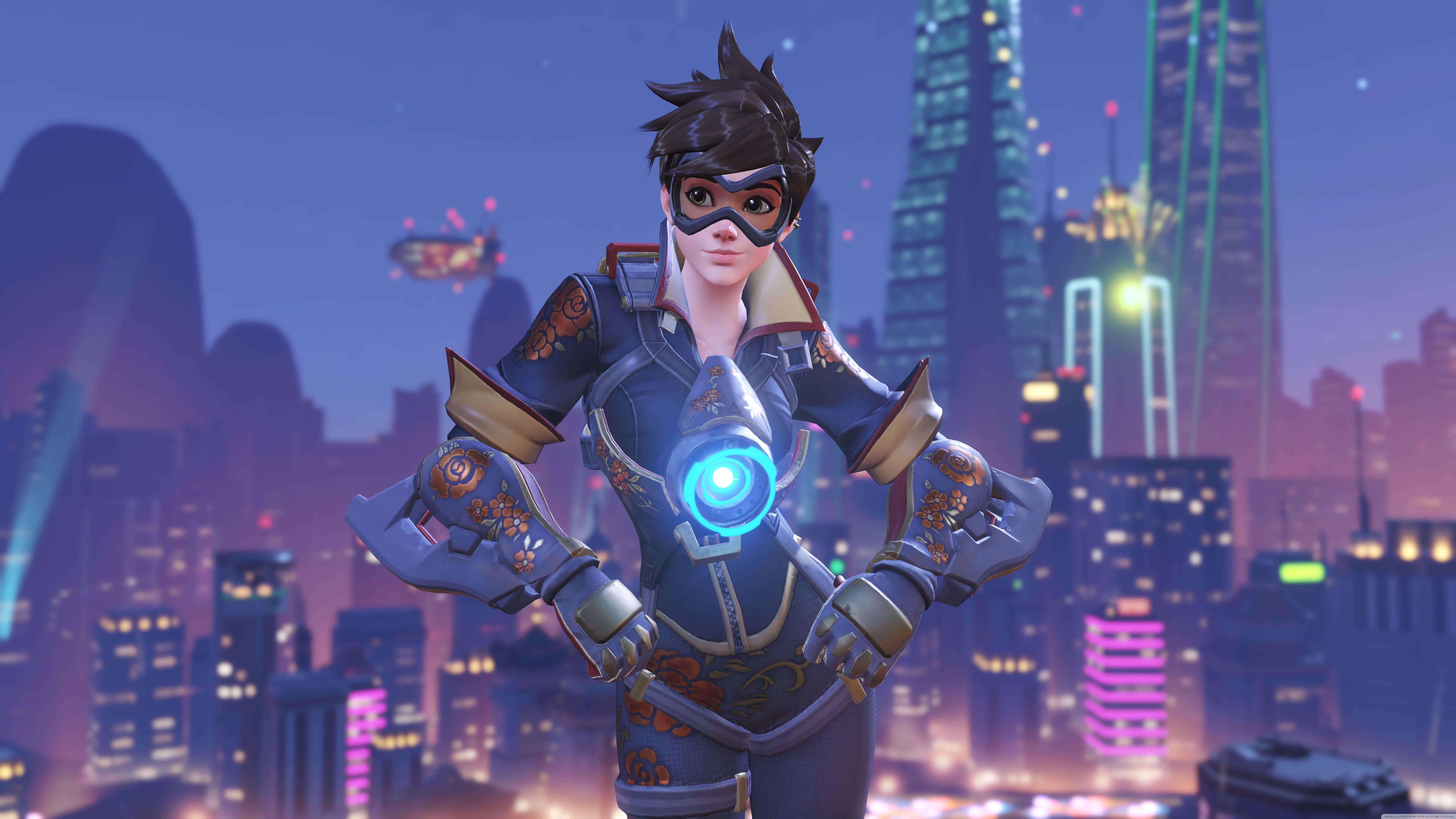 overwatch tracer year of the rooster skin uhd 8k wallpaper