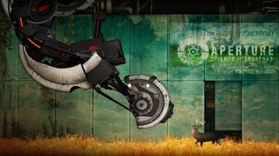 portal 2 glados wqhd 1440p wallpaper