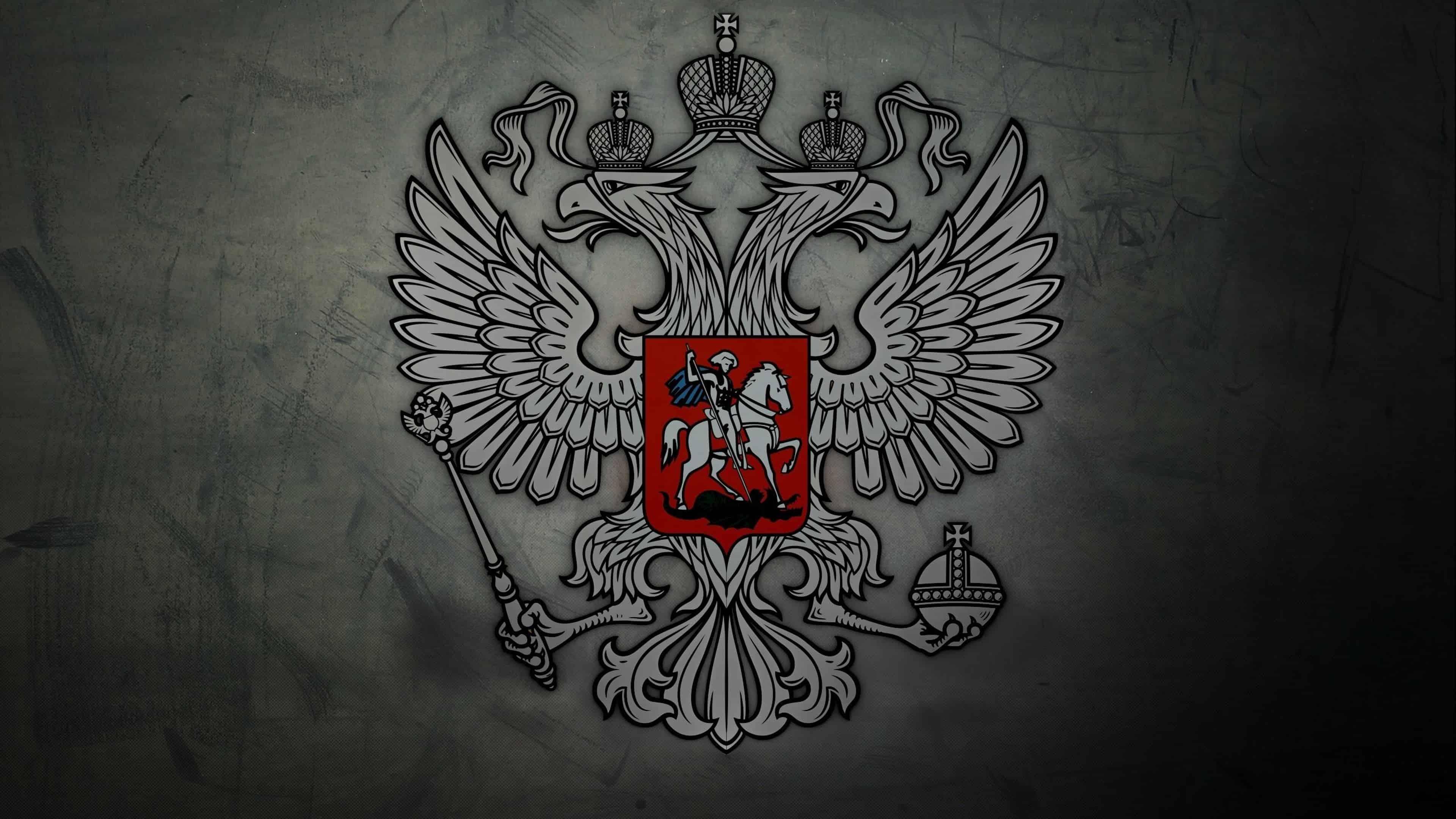 russian coat of arms uhd 4k wallpaper