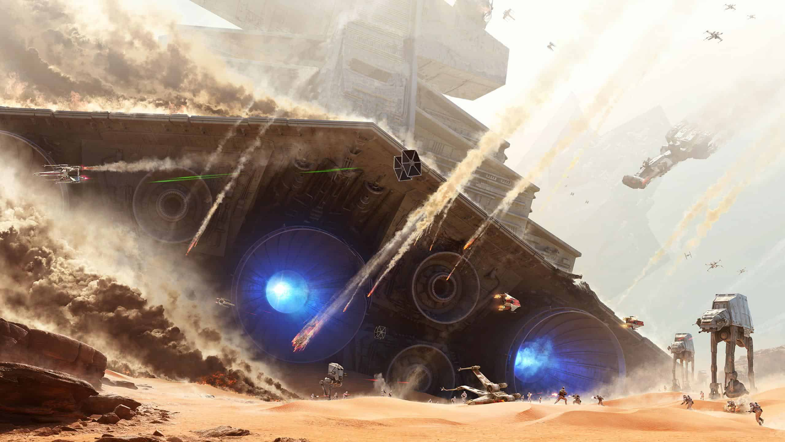 Star Wars Battlefront Battle Of Jakku Wqhd 1440p Wallpaper Pixelz