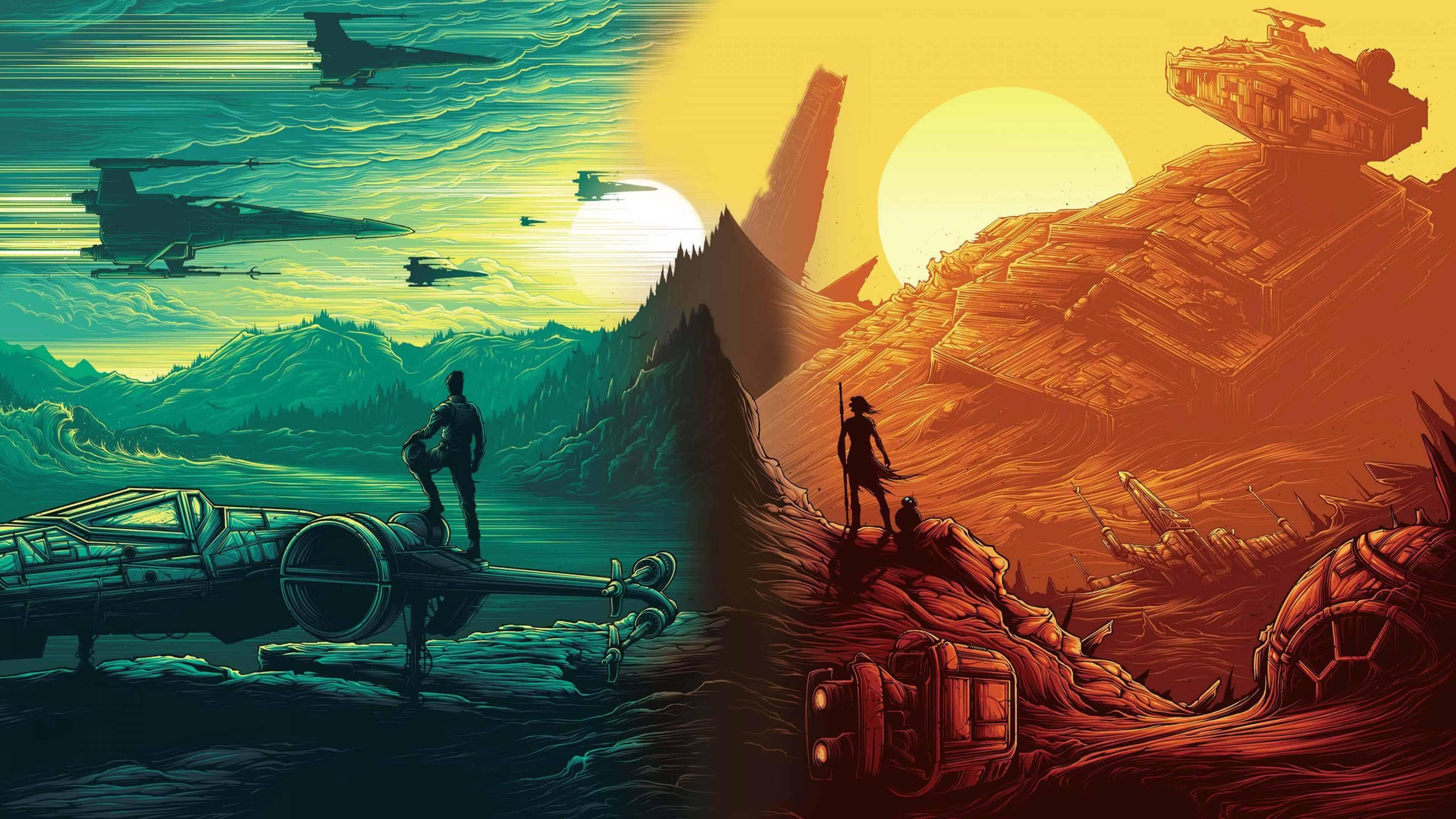star wars the force awakens uhd 4k wallpaper | pixelz