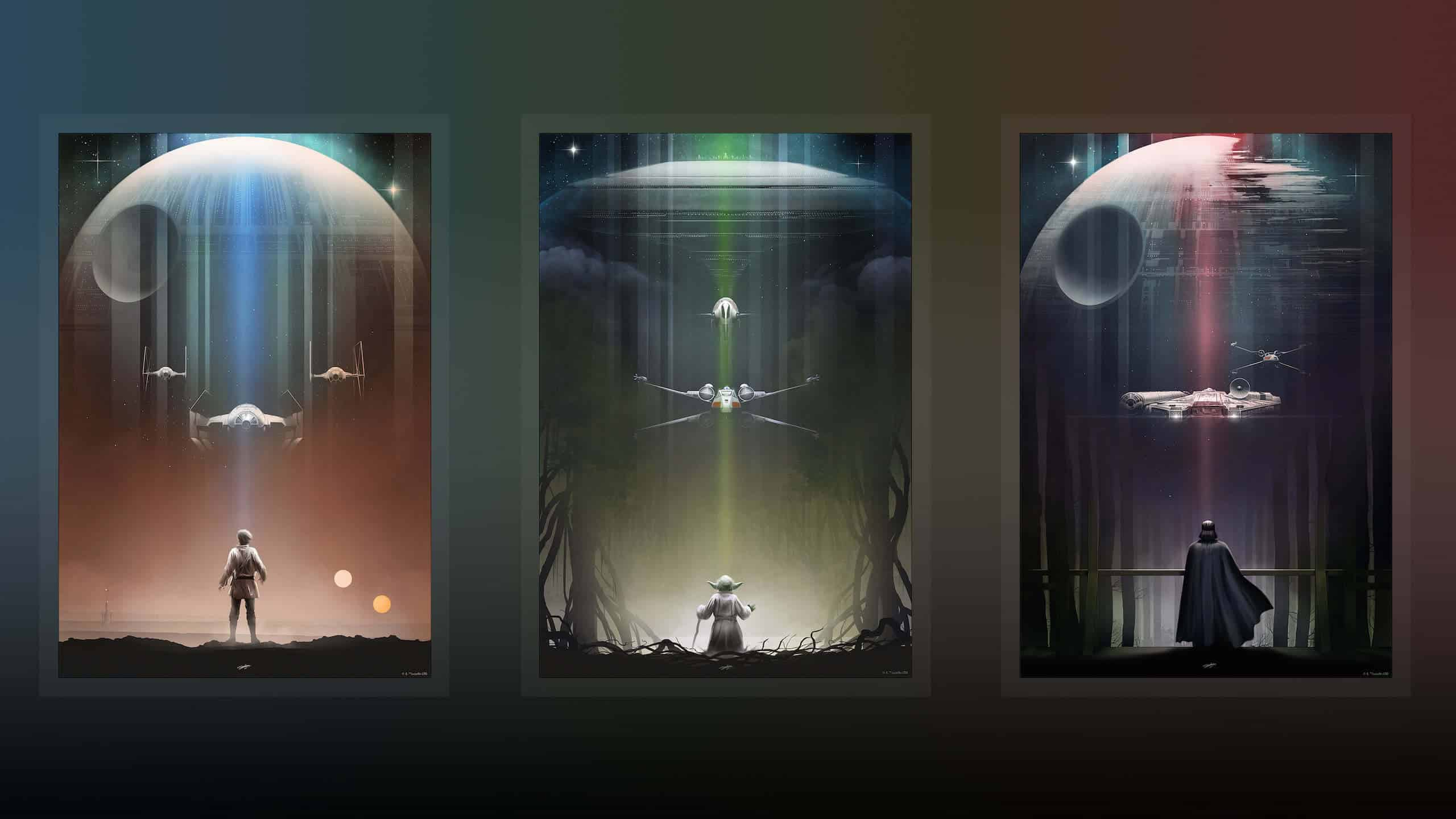 Star Wars Trilogy Posters Wqhd 1440p Wallpaper Pixelz
