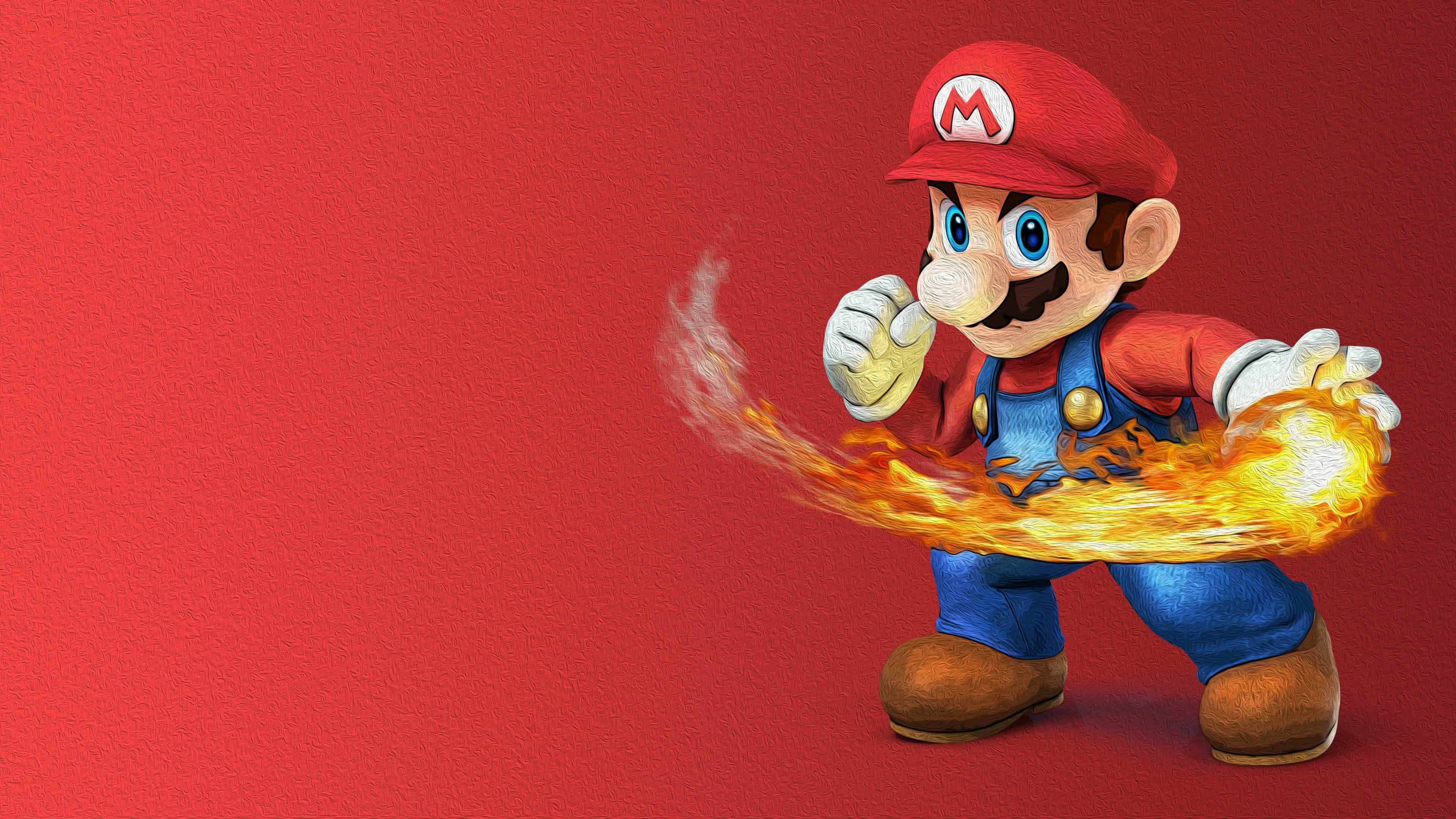 super smash bros mario uhd 4k wallpaper