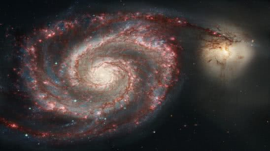 whirlpool galaxy messier 51 wqhd 1440p wallpaper