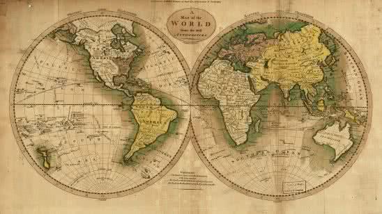 american vintage world map uhd 4k wallpaper