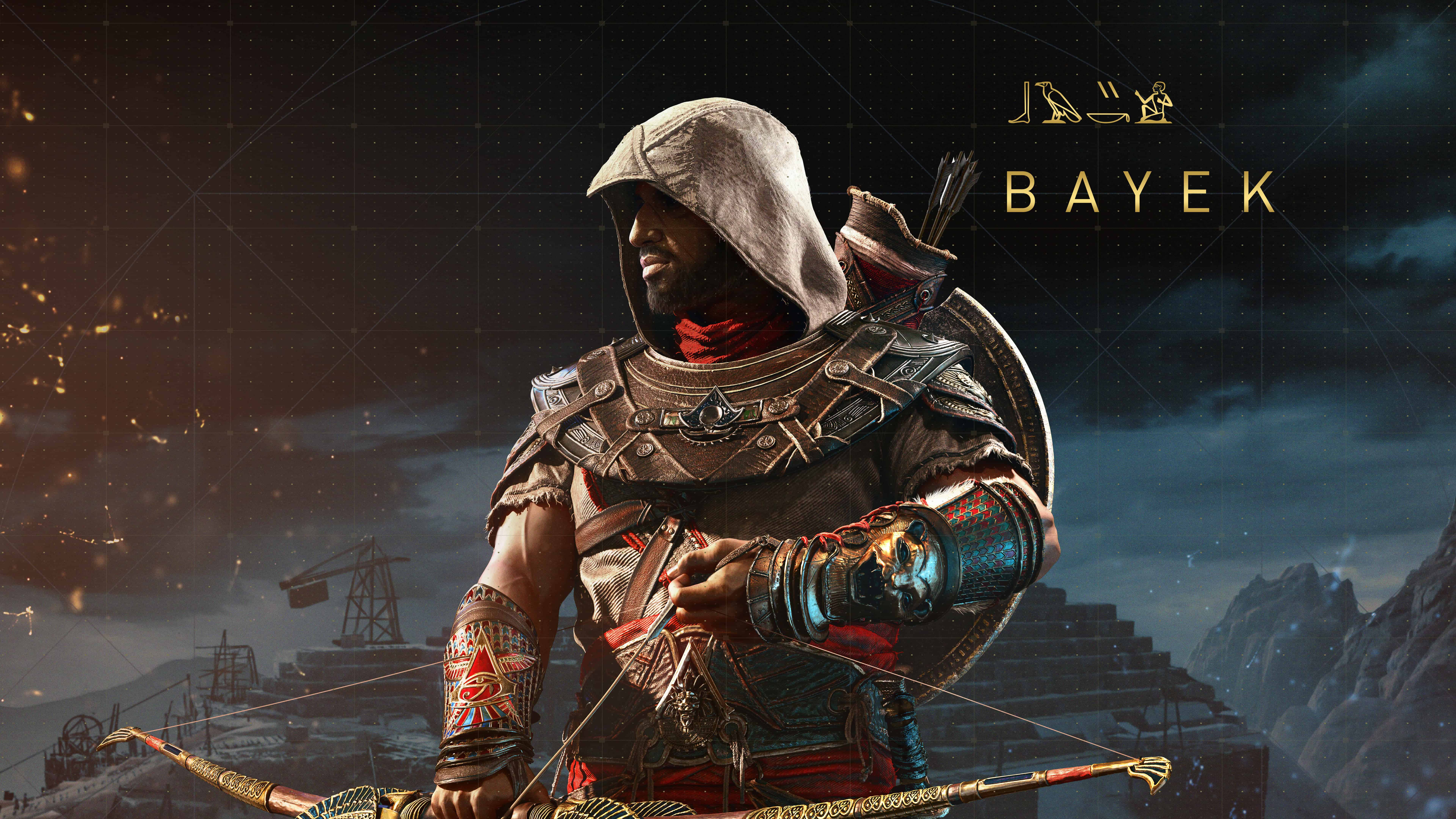 assassins creed origins the hidden ones dlc bayek uhd 8k wallpaper