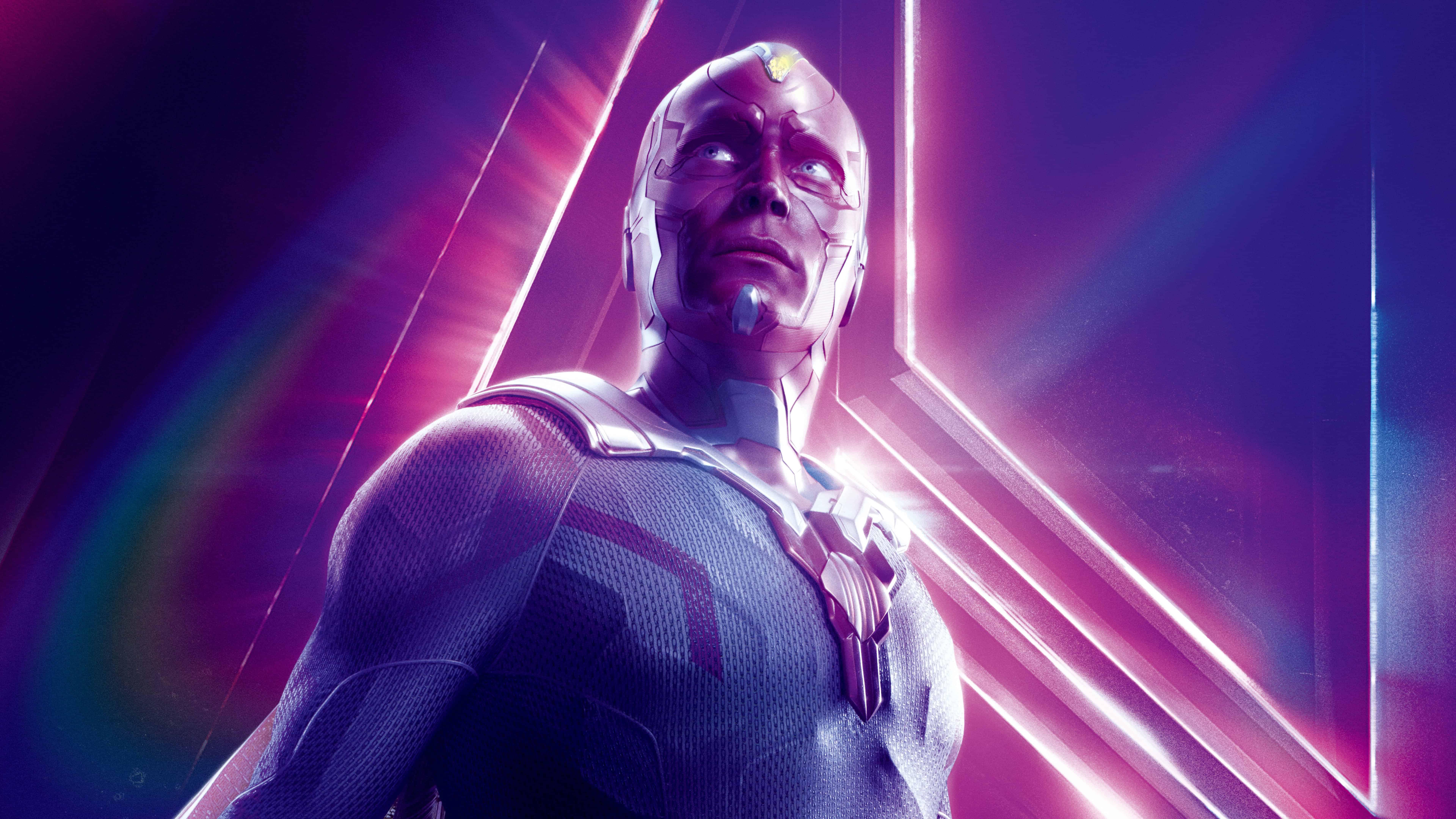 avengers infinity war vision uhd 8k wallpaper