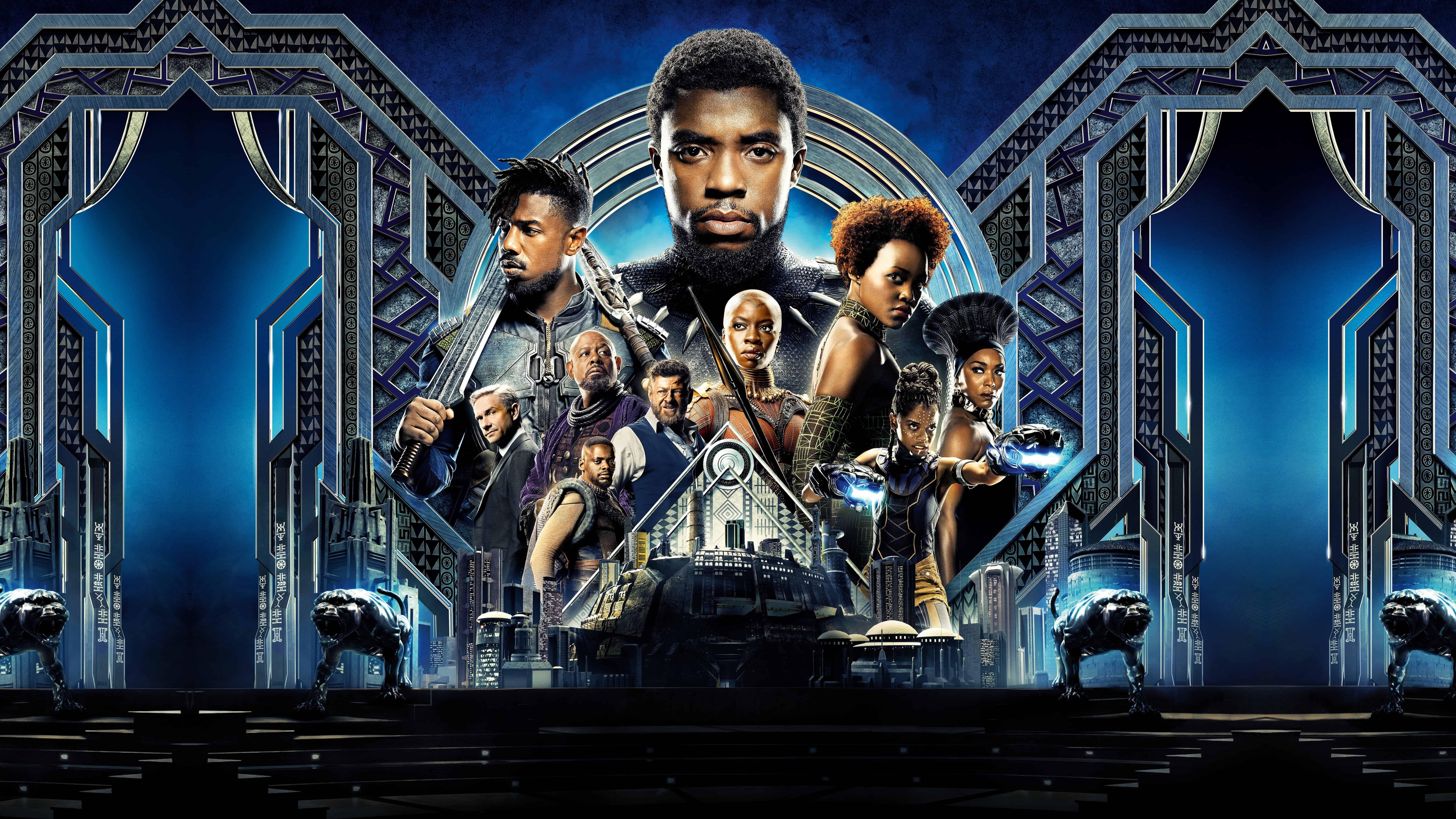 black panther movie 2018 uhd 8k wallpaper
