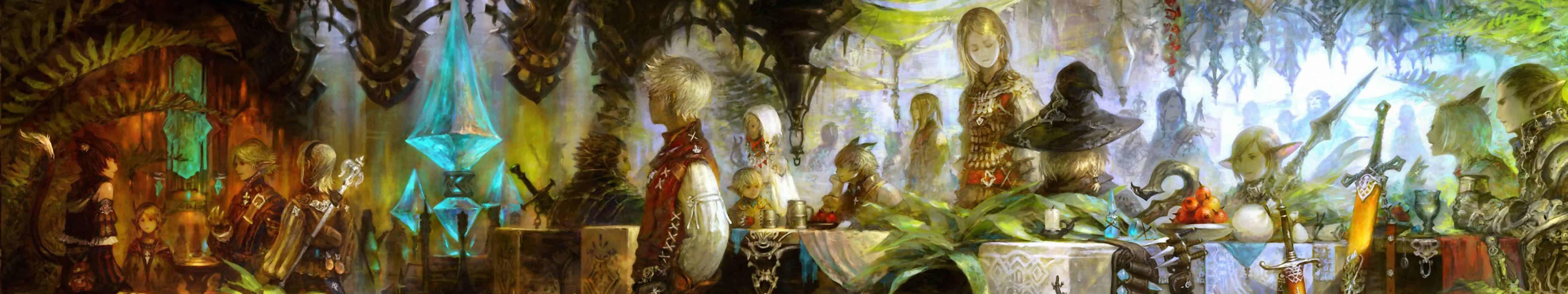Final Fantasy Xiv Online A Realm Reborn Triple Monitor Wallpaper