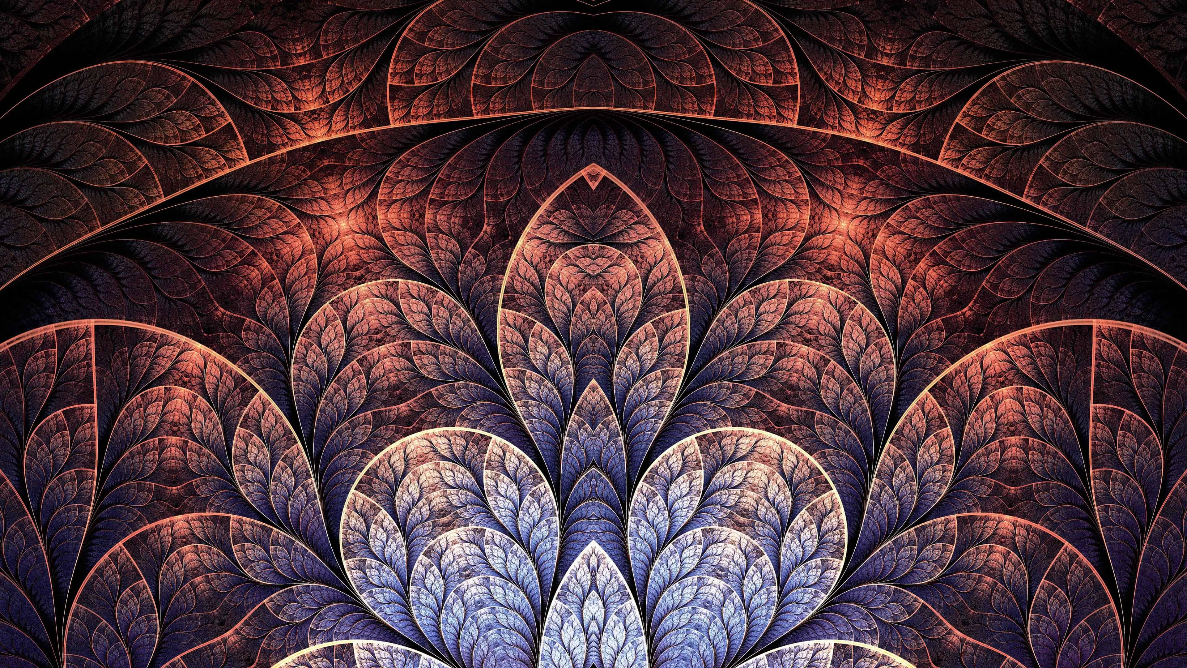 Glowing Fractals Uhd 4k Wallpaper Pixelz