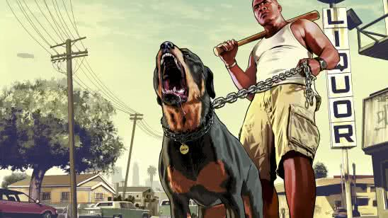 grand theft auto 5 franklin and chop uhd 8k wallpaper