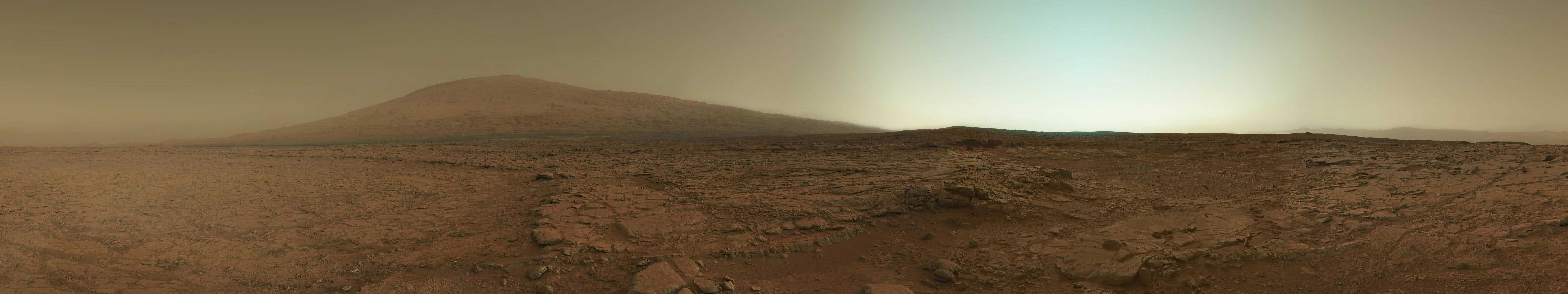 mars curiosity panorama triple monitor wallpaper