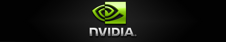 nvidia logo triple monitor wallpaper