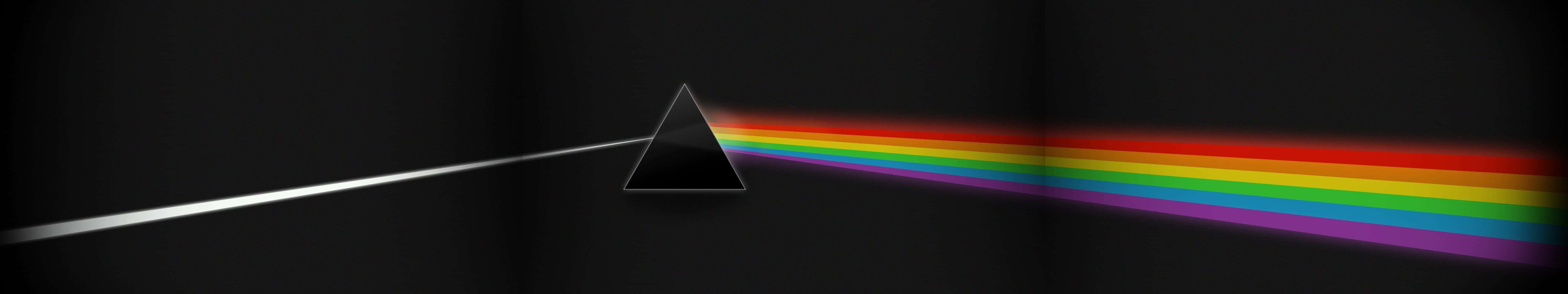 pink floyd dark side of the moon album cover triple monitor wallpaper
