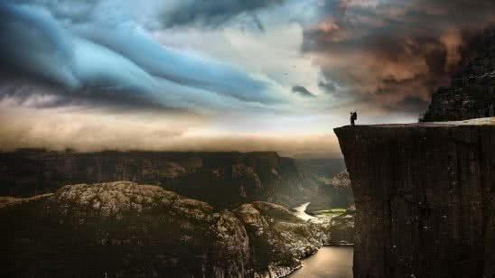 prekestolen cliff norway uhd 4k wallpaper