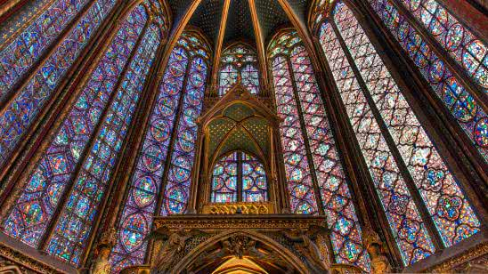 saintechapelle paris france uhd 4k wallpaper