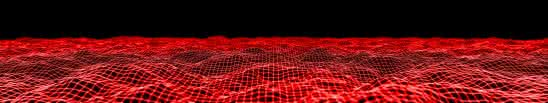wavy mesh red triple monitor wallpaper`