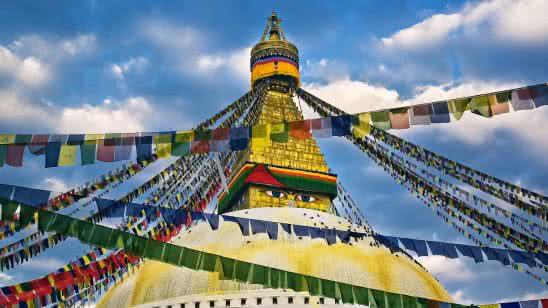 buddha eyes swayambhunath temple kathmandu nepal uhd 4k wallpaper