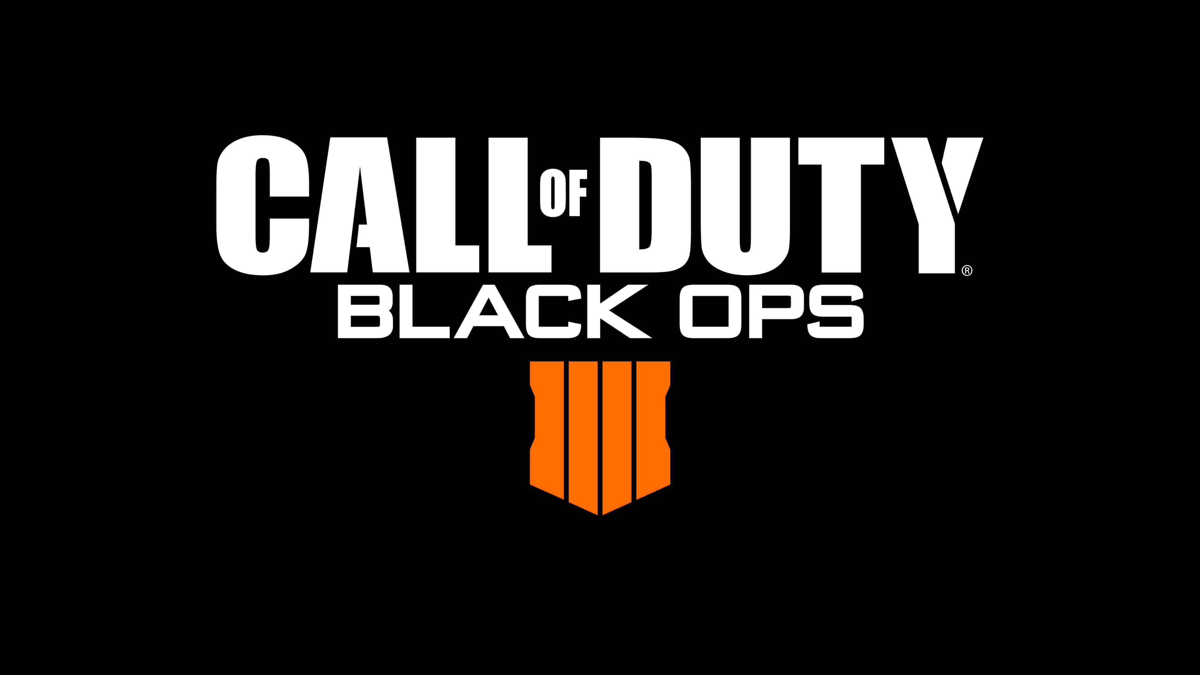 call of duty black ops 4 logo uhd 4k wallpaper