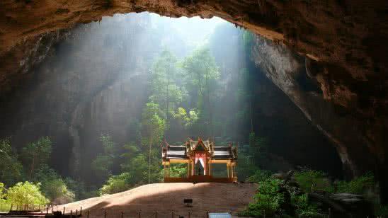 cave temple phraya nakhon cave khao sam roi yot national park prachuap khiri khan thailand uhd 4k wallpaper