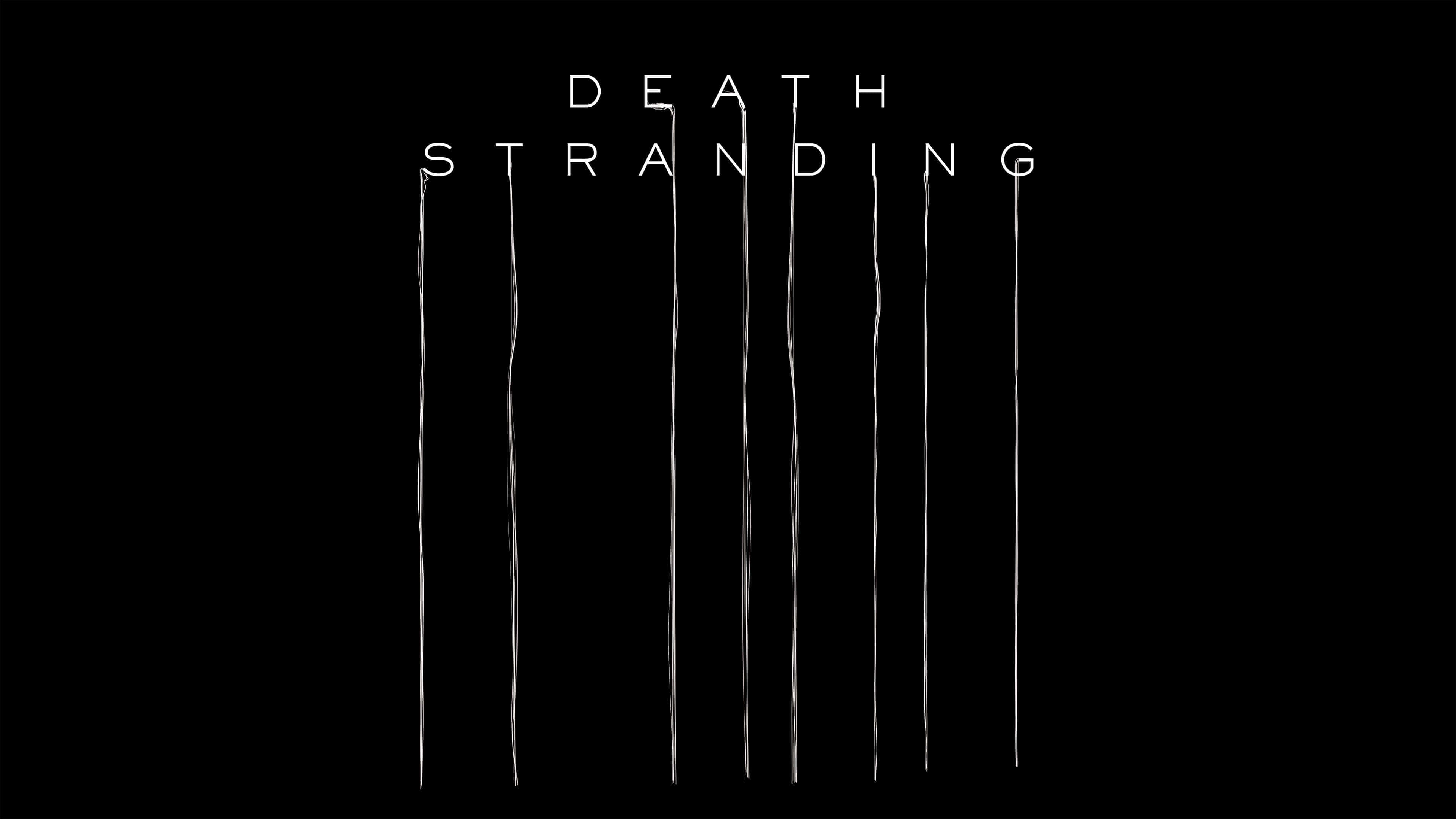 death stranding logo uhd 4k wallpaper