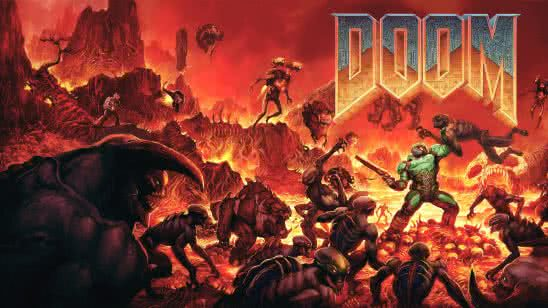 doom original cover uhd 4k wallpaper