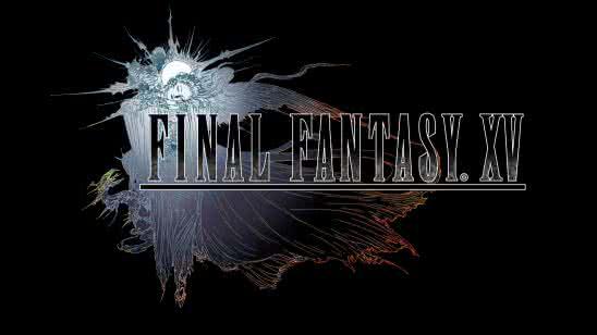 final fantasy xv logo uhd 4k wallpaper