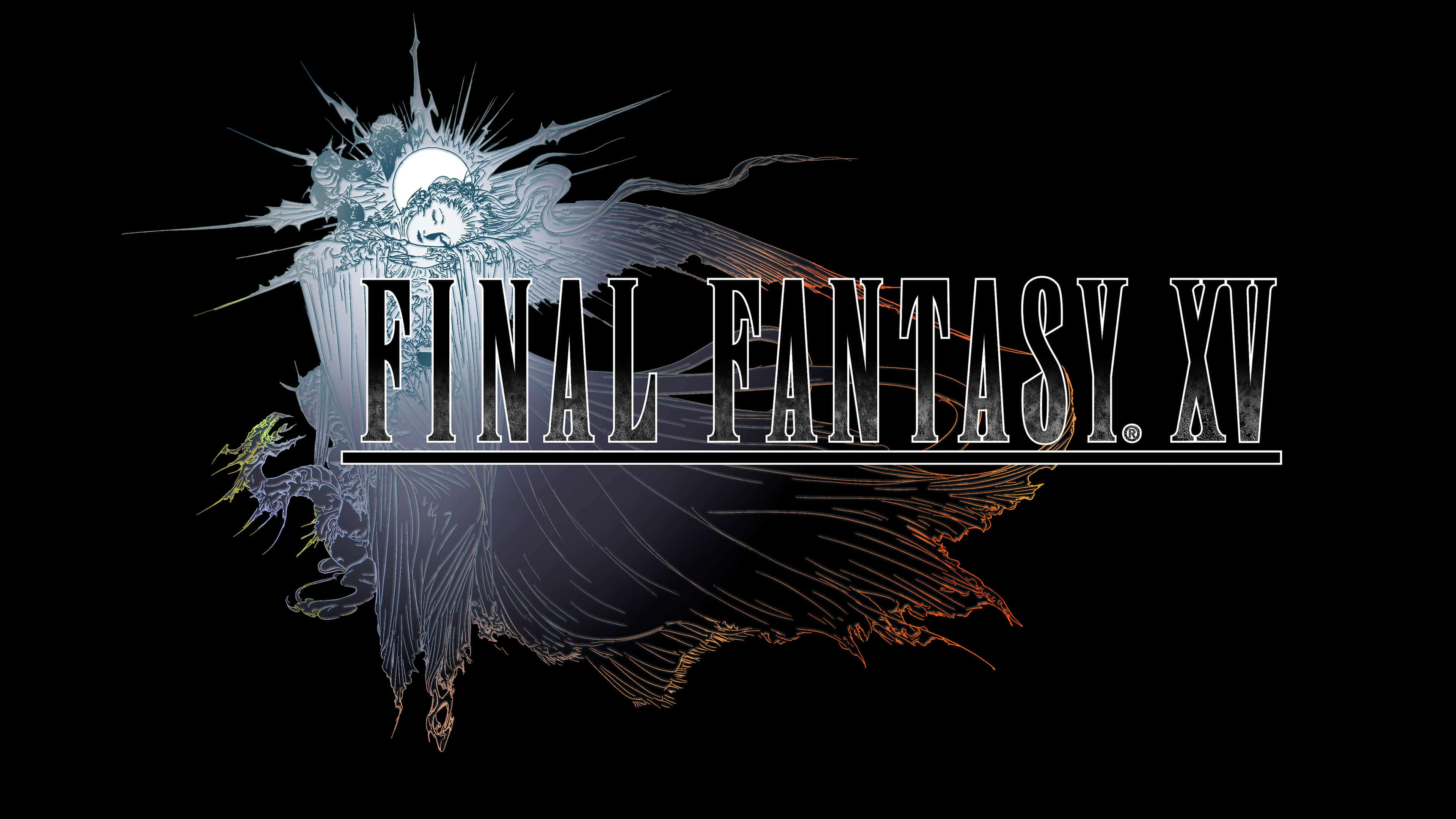 final fantasy xv logo uhd 4k wallpaper