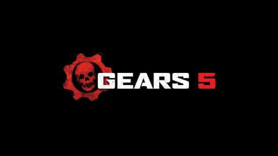 gears 5 logo uhd 4k wallpaper