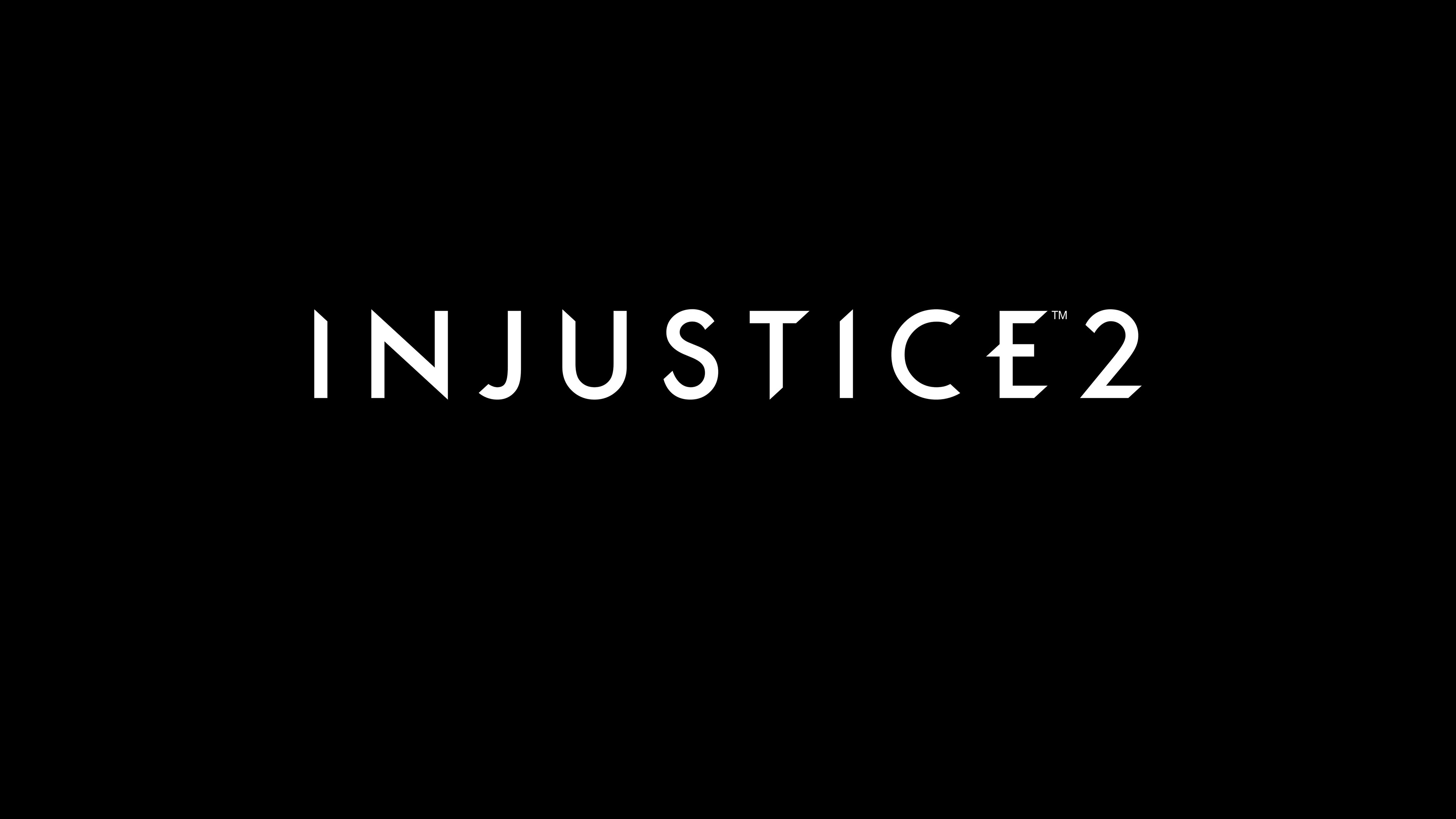 injustice 2 logo uhd 4k wallpaper