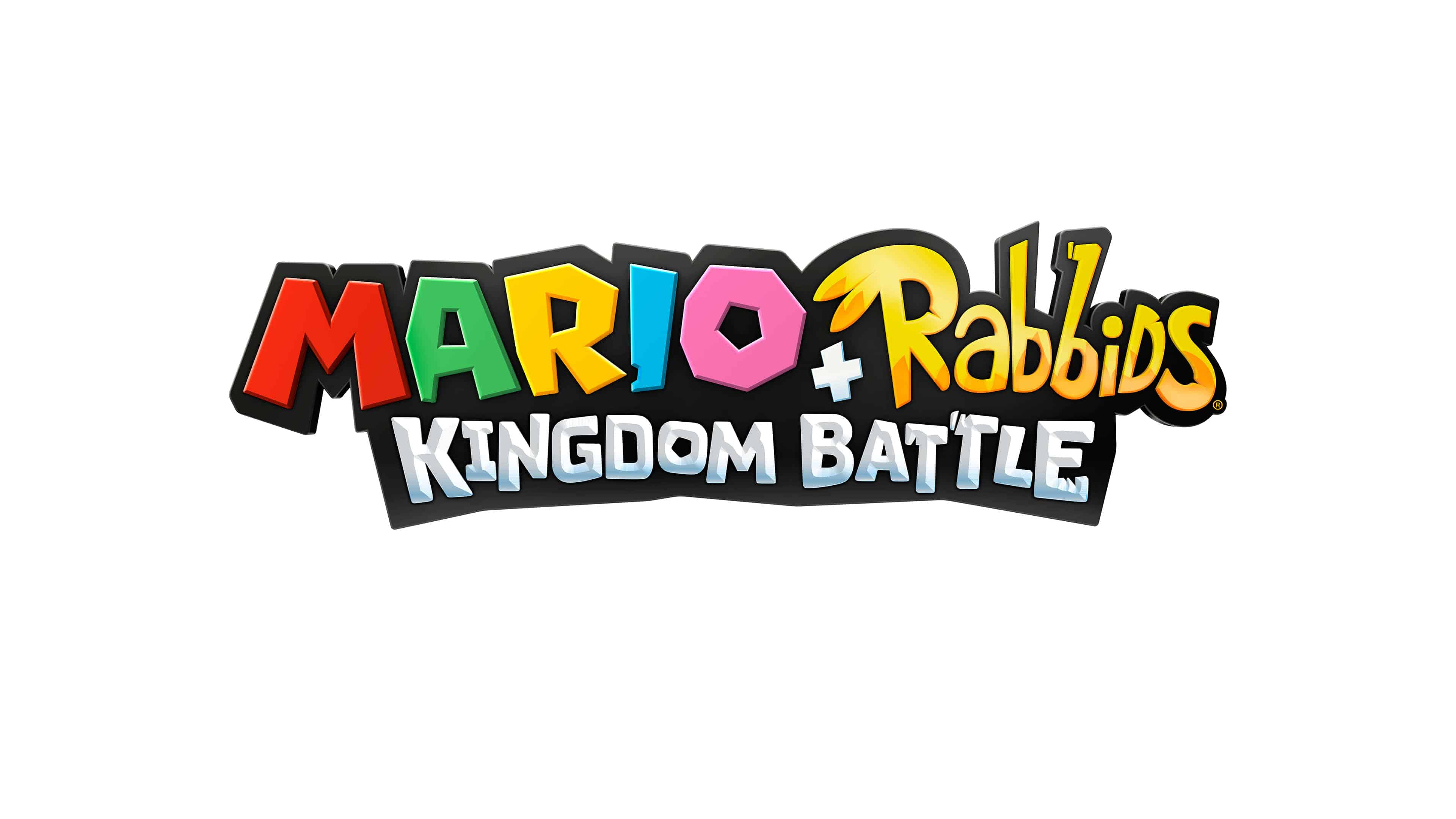 mario rabbids kingdom battle logo uhd 4k wallpaper