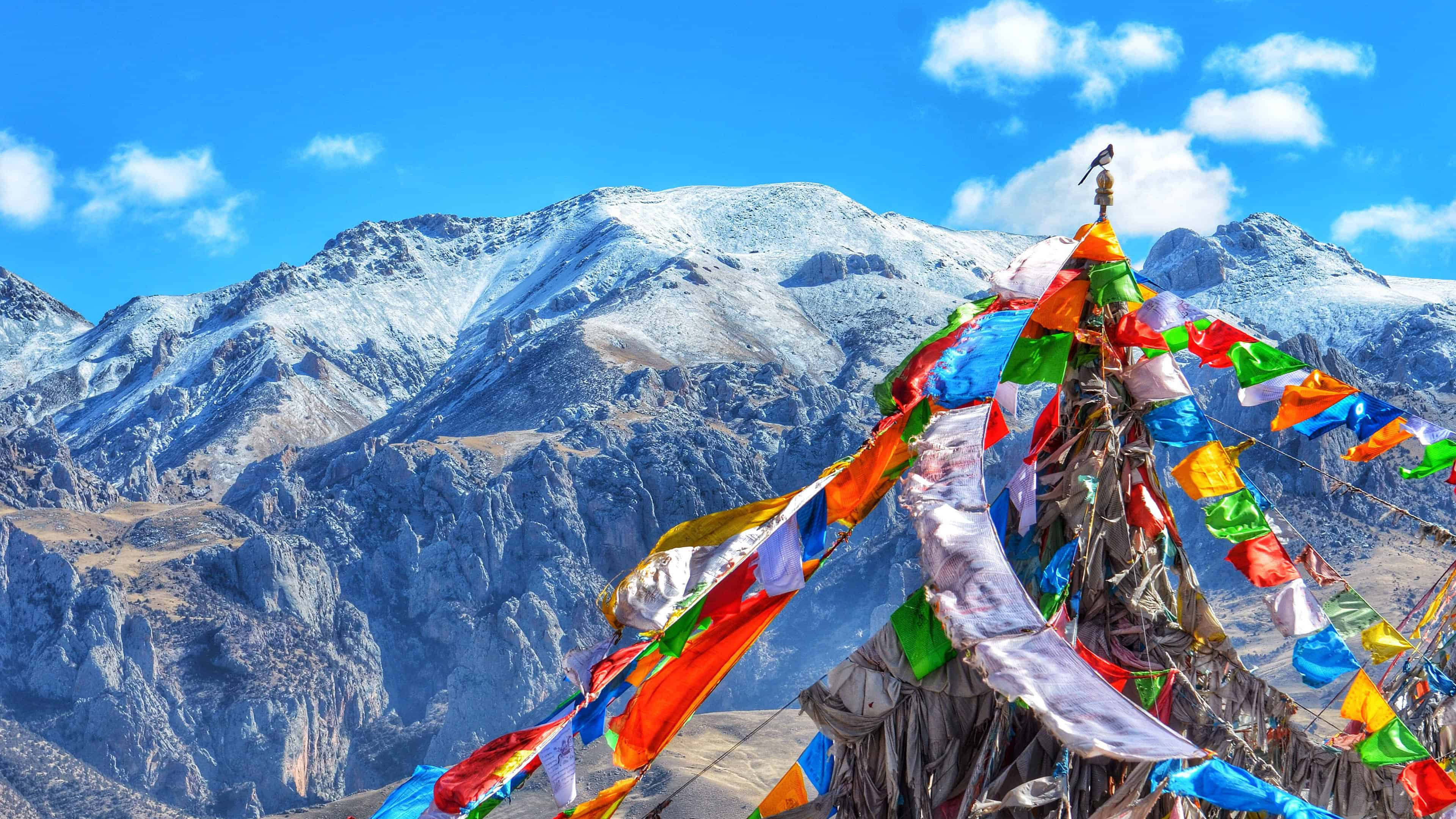 tibet prayer flags uhd 4k wallpaper
