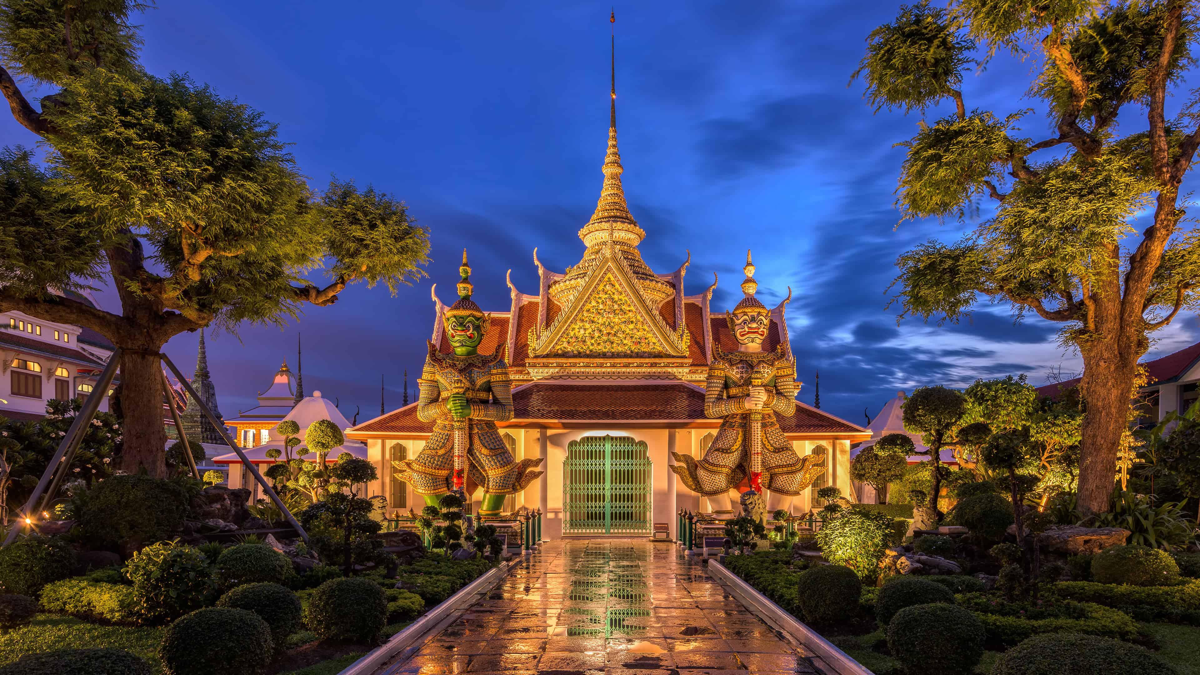 Wat Arun Buddhist Temple Bangkok Thailand Uhd 4k Wallpaper