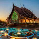 Wat Sirindhorn Wararam Phu Prao Buddhist Temple Ubon Ratchatani Thailand