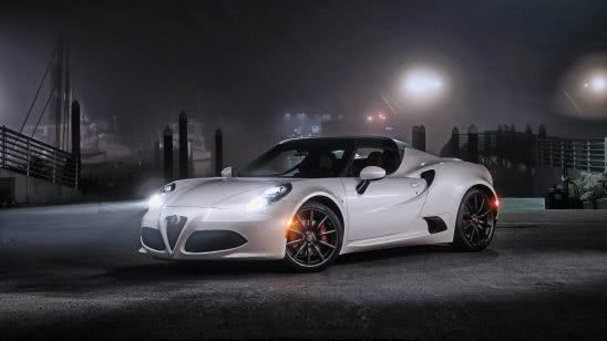 alfa romeo 4c white uhd 4k wallpaper
