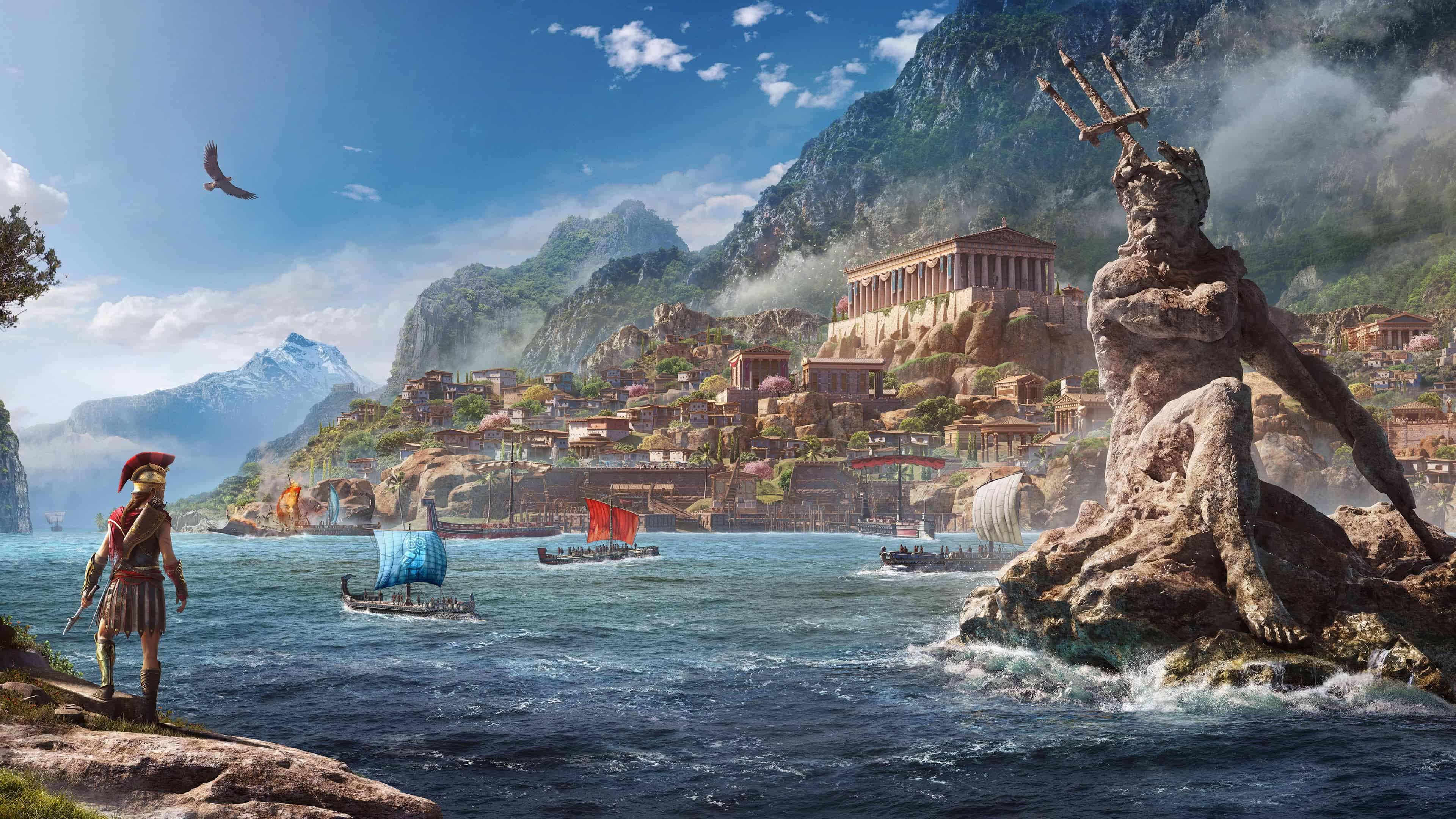 assassins creed odyssey uhd 4k wallpaper