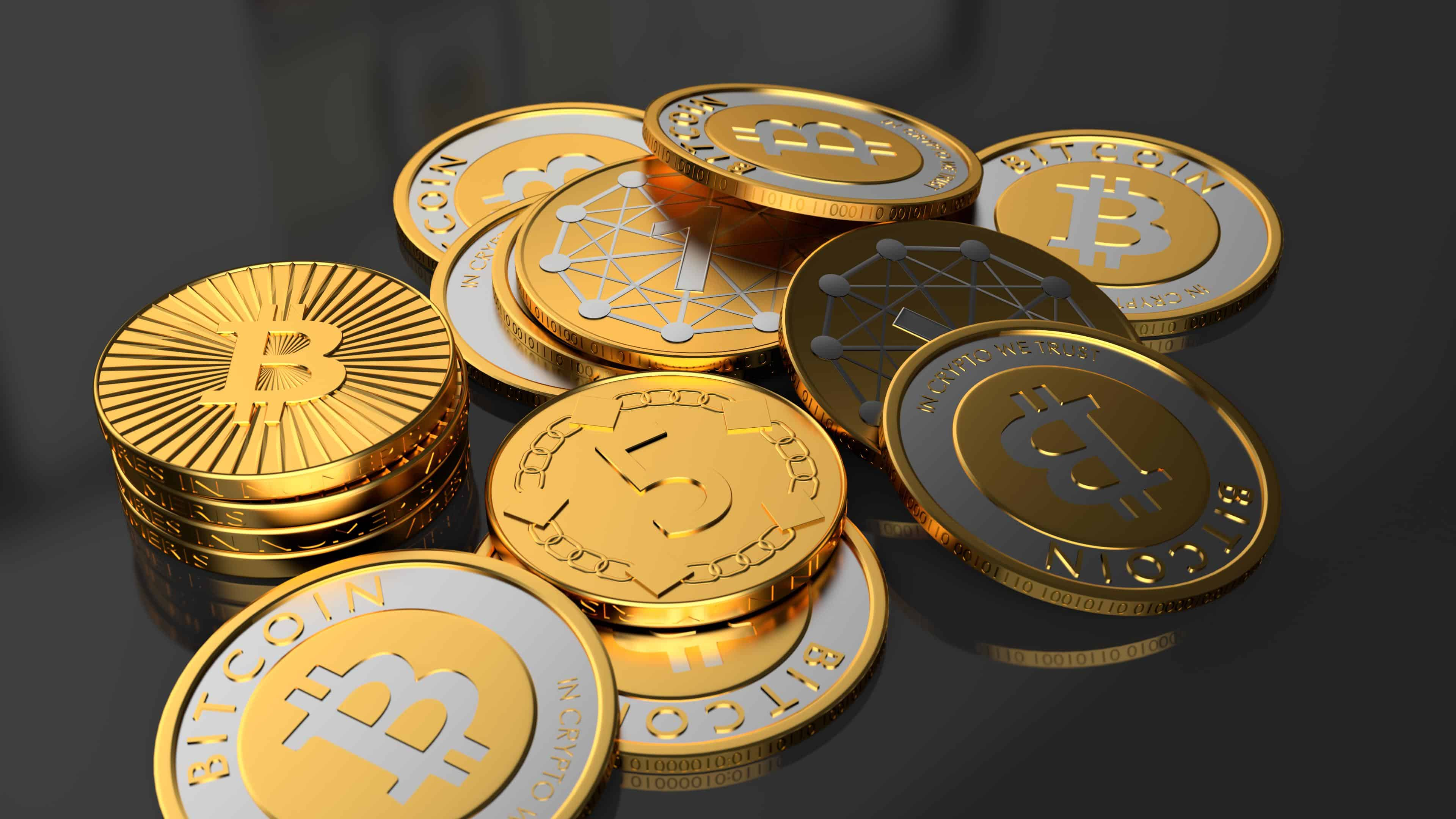 bitcoin coins uhd 4k wallpaper