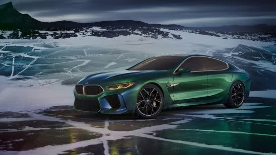bmw m8 gran coupe concept green uhd 4k wallpaper