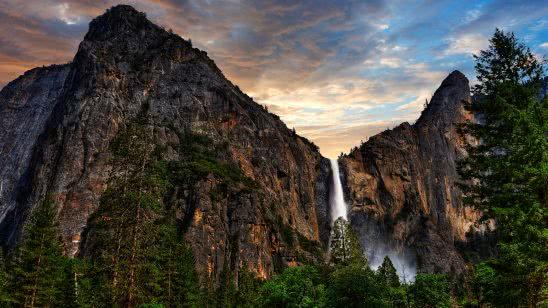 bridalveil fall trail yosemite national park california united states uhd 4k wallpaper