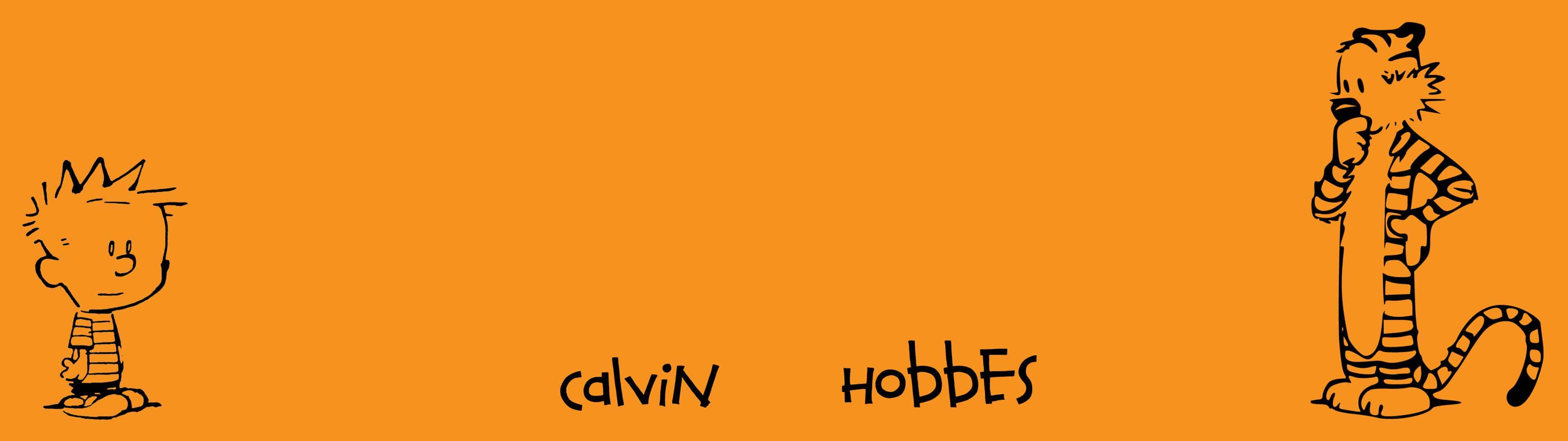 calvin and hobbes dual monitor wallpaper